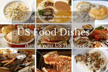 US Food Dishes during your US Holidays